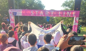 IS 227 Making Strides in Brooklyn Breast Cancer Awareness Walk _6