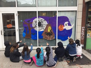 PS 112 Halloween Window art_10-25-2016